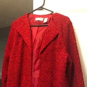 Red dress jacket